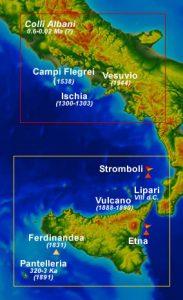 Volcanes activos en Italia
