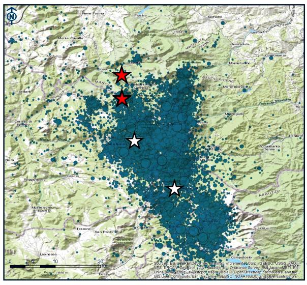 Miles de terremotos se han registrado en la zona de Italia central afectada a partir del 24 de agosto pasado